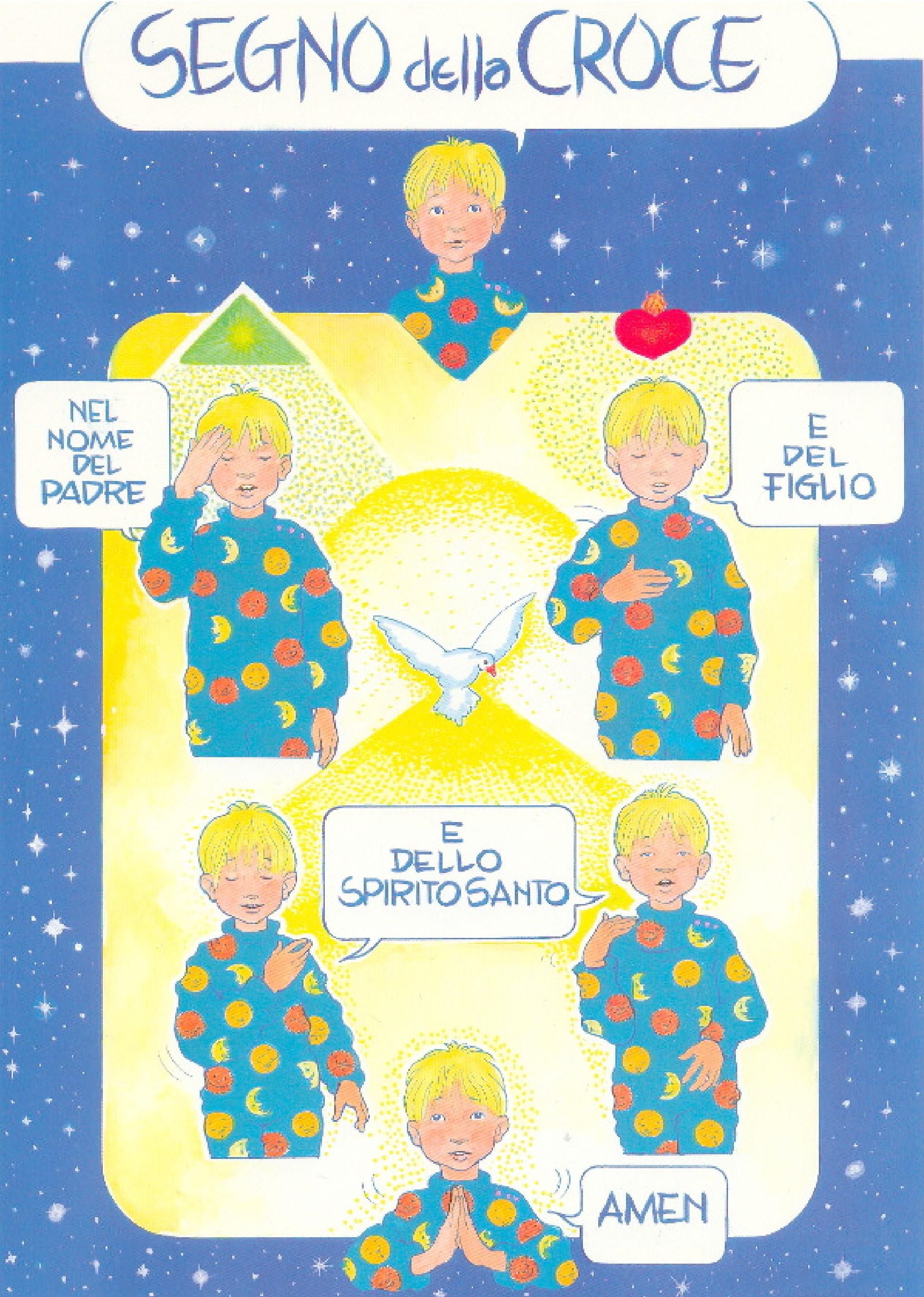 Catechismo il segno della croce preghiera matitecolorate for Immagini punto croce per bambini